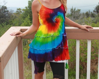 Tie Dye Tiered Dress | Coverup