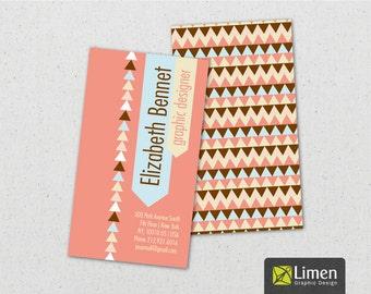 Arrow Business Card, Printable Business Card, Digital Business Card, Arrow Pattern, Calling Card, Printable Cards, DIY Business Cards