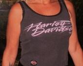 Distressed Vintage, Harley Davidson, Tank Top, Biker top, Womans Harley tank top, Harley Davidson tank top