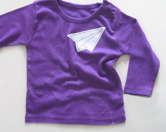Paper Airplane Tee, 1st Birthday Outfit, Origami Plane, Baby Girl Clothing