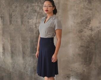 1950s Rayon Polka Dot Dress size S