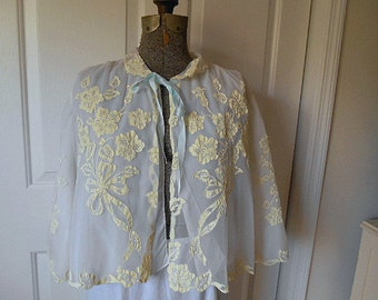Vintage cropped style Bed Jacket