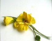 Felt brooch Yellow flowers - Handmade- Felt brooch- Wool brooch - Yellow brooch - Floral accessories