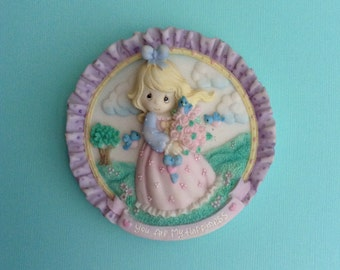 "Precious Moments Wall Plaque, ""You Are My Happiness"", 1996"