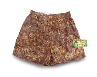 Batik Mens Boxers, Cotton Underwear, Mens Boxer Shorts, Cotton Batik Boxers, Mens Brown Boxers