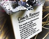 Coach Sign , Cheer,Dance,Volleyball,Softball ,Basketball ,Wood Block