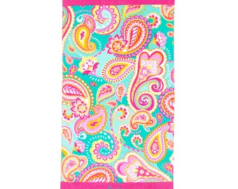 Beach Towel in Summer Paisley