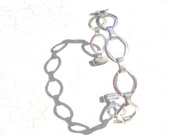 Hand Hammered Artisan Sterling Silver Bracelet