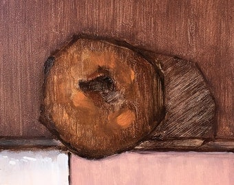 Cinnamon Cake Donut- Original Still Life Oil Painting