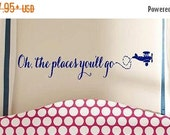 15% OFF Oh the places you'll go - children  Vinyl Lettering wall words graphics  decals  Art Home decor itswritteninvinyl