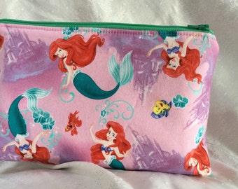 Little Mermaid Cosmetic Makeup Bag
