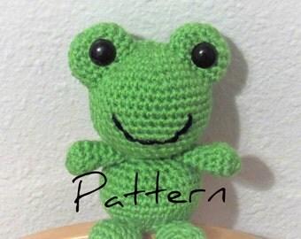 Crochet Frog Pattern, Frog Amigurumi, Frog Pattern, Crochet Pattern, Frog Doll, Frog Toy, Crochet Toad Doll, Crochet Toad Pattern, Frog
