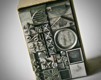 Vintage Letterpress Shapes and Symbols for Printing Stamping and Clay Stamping