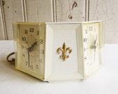 Vintage Westclox Twin Face Clock - Mid-Century - 1950s 1960s Retro - Twin Bed Clock