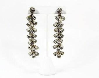 RESERVED for Jessica WEISS  Earrings, Crystal Earrings, Dangle Earrings, Vintage Jewelry, Runway Earrings, Estate Jewelry, Bridal Earrings
