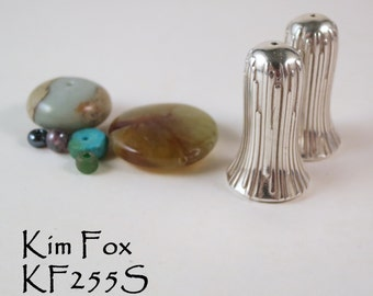 Large Trumpet Flower Cones in Silver suitable for necklaces made by Kim Fox