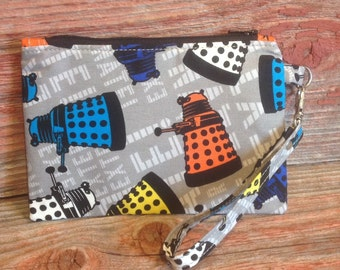 "Doctor Who inspired ""Dalek"" zipper pouch."