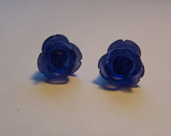 Blue Rose Post Earrings    781
