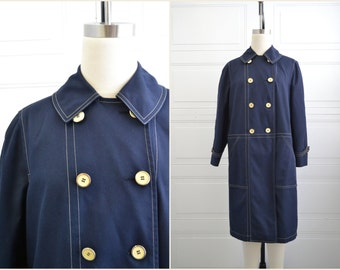 1960s Misty Harbor Navy Trench Coat