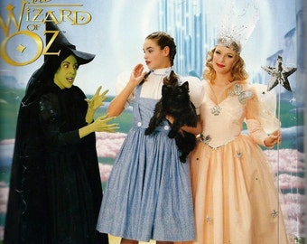 Simplicity 7808 / 0632 ADULT Wizard Of Oz Wicked Witch Elphaba Good Glinda Dorothy Costume Sewing Pattern Size 12, 14 and 16