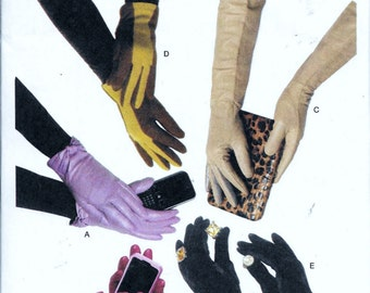 Butterick B5695 Sewing Pattern Five Pairs of Unlined Ladies Gloves Sizes S,M,L Evening, Leather, Driving, Fabric, Tea