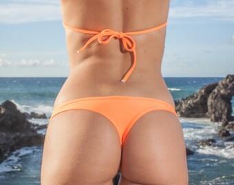 INDIE ATTIRE - Thong Bikini Bottom - Neon Orange