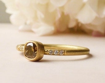 Annie 18ct Fairtrade Gold And Chocolate Diamond Ring