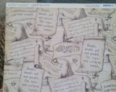"Steampunk Spells ""Witching Hour""  12 x 12 scrapbook paper.   Double sided,  single sheet"