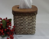 Tissue Basket /Tissue Cover-Tissue Box-Primitive Style-Handwoven Basket