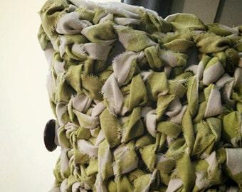 Pillow Cover Crochet Green