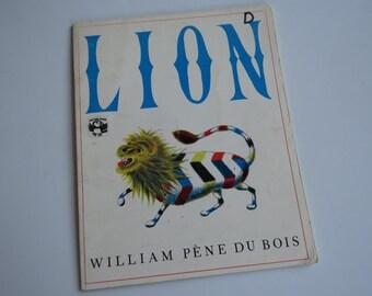 Vintage - LION - William Pene Du Bois - Children's Book