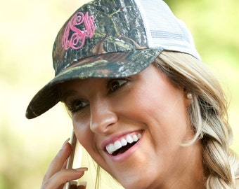 Monogrammed Woods Trucker Hat - Preppy and cute...