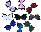 Batty Chan hair bow | black white red burgundy lavender purple ombre bloody bat bow gothic lolita pastel goth hair clip nu goth accessories