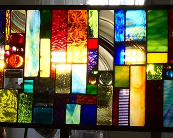 Skylight Stained Glass Window Custom Ordered