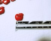 Novelty Buttons, Red Apple Buttons, Craft Buttons