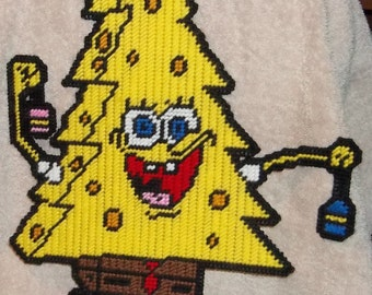 Sponge Bob Christmas Tree Plastic Canvas Pattern