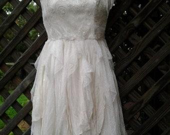 20%OFF wedding bridesmaid bohemian fairy vintage boho .. 32 to 34 bust..