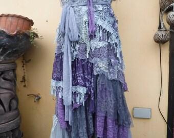 "20%OFF boho wedding dress formal brides maid bohemian lagenlook gypsy vintage... large to 46"" bust.."