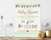 Vintage Peter Rabbit Baby Shower Invitation - Birthday Invitation - Customize for any event