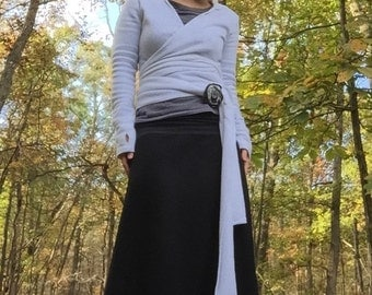 Hall Mountain Yoga-Waistband Polar Fleece Skirt