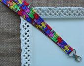 Fabric Lanyard - Autism Awareness - Puzzle Pieces