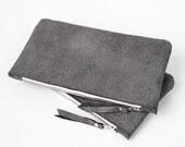 Grey Leather Pouch No. ZPSL-101