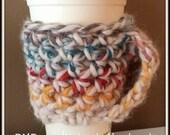 Crochet Coffee Sleeve with Handle/Handwarmer