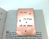 Personalized Copper Bookmark - Hand Stamped - Sealed - Boyfriend Gift - Girlfriend - Husband Wife Gift - 7th Anniversary - Custom Bookmark