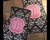 Damask Personalized Car Mats Monogrammed Car Mats Personalized Car Floor Mats- Set of 2 Front Mats