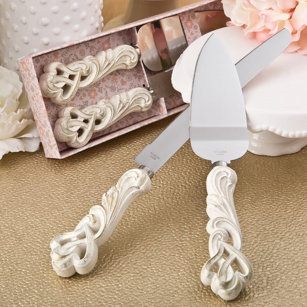 personalized vintage wedding cake serving set heart serving. Black Bedroom Furniture Sets. Home Design Ideas