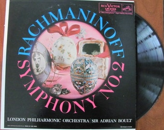 "Vintage ""Rachmaninoff Symphony No. 2 in E Minor, Opus 27"" Classical Music Vinyl Record Album - London Philharmonic Orchestra"