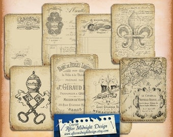 TAGS 117 Old paper Vintage Backgrounds Shabby chic paper Scrapbook PNG