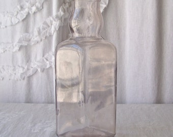 Antique Apothecary Bottle Pantry Bottle Pharmacy Bottle Sun Purple Glass Milk Bottle Vintage 1910s
