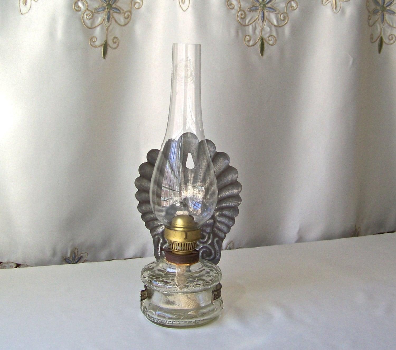 Vintage Oil Lamp S Reich Co Czechoslovakia Primitive Decor